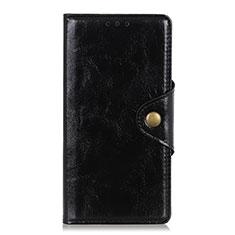 Custodia Portafoglio In Pelle Cover con Supporto L01 per Xiaomi Redmi Note 9 Pro Nero