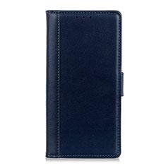 Custodia Portafoglio In Pelle Cover con Supporto L02 per Alcatel 1C (2019) Blu