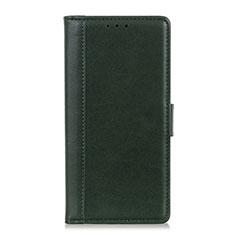 Custodia Portafoglio In Pelle Cover con Supporto L02 per Alcatel 3X Verde