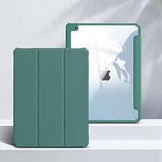 Custodia Portafoglio In Pelle Cover con Supporto L02 per Apple iPad 10.2 (2020) Verde