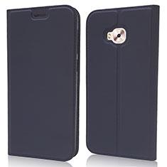 Custodia Portafoglio In Pelle Cover con Supporto L02 per Asus Zenfone 4 Selfie Pro Blu