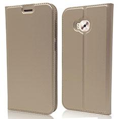 Custodia Portafoglio In Pelle Cover con Supporto L02 per Asus Zenfone 4 Selfie Pro Oro