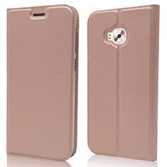 Custodia Portafoglio In Pelle Cover con Supporto L02 per Asus Zenfone 4 Selfie Pro Oro Rosa