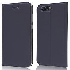 Custodia Portafoglio In Pelle Cover con Supporto L02 per Asus Zenfone 4 ZE554KL Blu