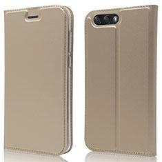 Custodia Portafoglio In Pelle Cover con Supporto L02 per Asus Zenfone 4 ZE554KL Oro