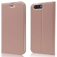 Custodia Portafoglio In Pelle Cover con Supporto L02 per Asus Zenfone 4 ZE554KL Oro Rosa
