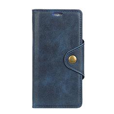 Custodia Portafoglio In Pelle Cover con Supporto L02 per Asus Zenfone 5 Lite ZC600KL Blu