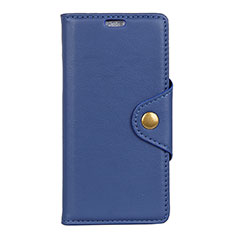 Custodia Portafoglio In Pelle Cover con Supporto L02 per Asus ZenFone Live L1 ZA551KL Blu