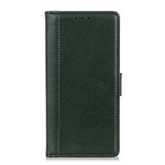 Custodia Portafoglio In Pelle Cover con Supporto L02 per Asus Zenfone Max Plus M2 ZB634KL Verde