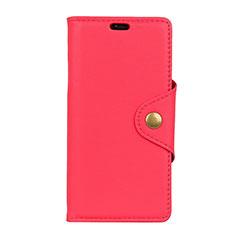 Custodia Portafoglio In Pelle Cover con Supporto L02 per Asus Zenfone Max Pro M1 ZB601KL Rosso