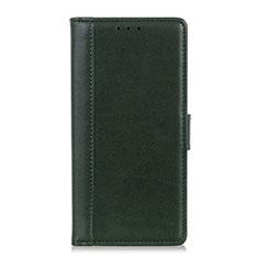 Custodia Portafoglio In Pelle Cover con Supporto L02 per BQ Vsmart joy 1 Plus Verde
