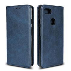 Custodia Portafoglio In Pelle Cover con Supporto L02 per Google Pixel 3 XL Blu