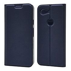 Custodia Portafoglio In Pelle Cover con Supporto L02 per Google Pixel 3a XL Blu