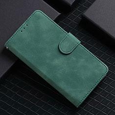 Custodia Portafoglio In Pelle Cover con Supporto L02 per Google Pixel 5 Verde