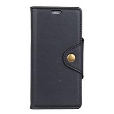 Custodia Portafoglio In Pelle Cover con Supporto L02 per HTC U12 Life Nero