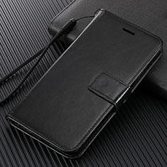 Custodia Portafoglio In Pelle Cover con Supporto L02 per Huawei Enjoy 10e Nero