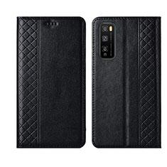 Custodia Portafoglio In Pelle Cover con Supporto L02 per Huawei Enjoy Z 5G Nero