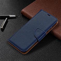 Custodia Portafoglio In Pelle Cover con Supporto L02 per Huawei Honor 9A Blu