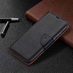 Custodia Portafoglio In Pelle Cover con Supporto L02 per Huawei Honor 9A Nero