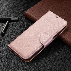 Custodia Portafoglio In Pelle Cover con Supporto L02 per Huawei Honor 9A Oro Rosa