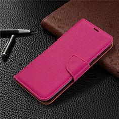 Custodia Portafoglio In Pelle Cover con Supporto L02 per Huawei Honor 9A Rosa Caldo