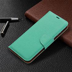 Custodia Portafoglio In Pelle Cover con Supporto L02 per Huawei Honor 9A Verde