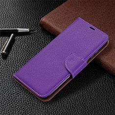 Custodia Portafoglio In Pelle Cover con Supporto L02 per Huawei Honor 9A Viola