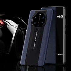 Custodia Portafoglio In Pelle Cover con Supporto L02 per Huawei Mate 40 RS Blu