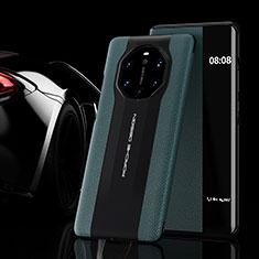 Custodia Portafoglio In Pelle Cover con Supporto L02 per Huawei Mate 40 RS Verde Notte