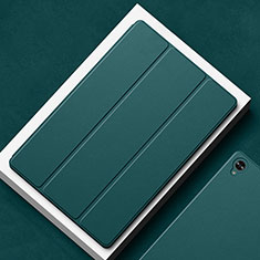 Custodia Portafoglio In Pelle Cover con Supporto L02 per Huawei MatePad 10.8 Verde Notte