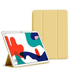 Custodia Portafoglio In Pelle Cover con Supporto L02 per Huawei MatePad 5G 10.4 Giallo