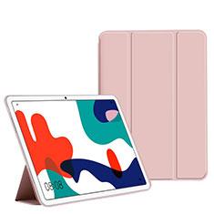 Custodia Portafoglio In Pelle Cover con Supporto L02 per Huawei MatePad 5G 10.4 Rosa