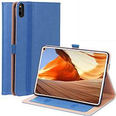 Custodia Portafoglio In Pelle Cover con Supporto L02 per Huawei MatePad Pro Blu
