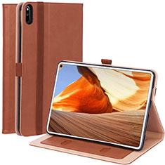 Custodia Portafoglio In Pelle Cover con Supporto L02 per Huawei MatePad Pro Marrone