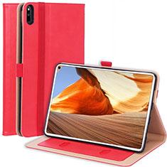 Custodia Portafoglio In Pelle Cover con Supporto L02 per Huawei MatePad Pro Rosso