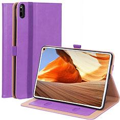 Custodia Portafoglio In Pelle Cover con Supporto L02 per Huawei MatePad Pro Viola