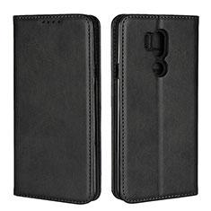 Custodia Portafoglio In Pelle Cover con Supporto L02 per LG G7 Nero