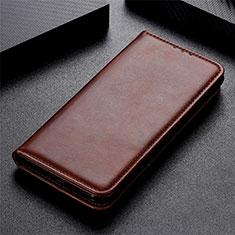 Custodia Portafoglio In Pelle Cover con Supporto L02 per LG K51 Marrone