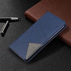 Custodia Portafoglio In Pelle Cover con Supporto L02 per LG K61 Blu