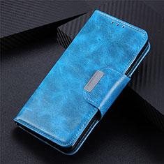 Custodia Portafoglio In Pelle Cover con Supporto L02 per LG Q52 Cielo Blu