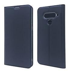 Custodia Portafoglio In Pelle Cover con Supporto L02 per LG V50 ThinQ 5G Blu