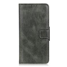 Custodia Portafoglio In Pelle Cover con Supporto L02 per LG Velvet 5G Verde Notte
