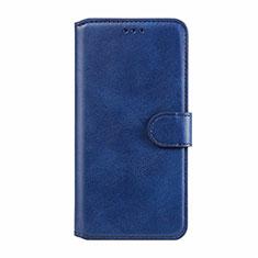 Custodia Portafoglio In Pelle Cover con Supporto L02 per Motorola Moto E6s (2020) Blu