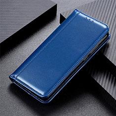 Custodia Portafoglio In Pelle Cover con Supporto L02 per Motorola Moto Edge Blu