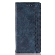 Custodia Portafoglio In Pelle Cover con Supporto L02 per Motorola Moto Edge Plus Blu