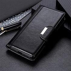 Custodia Portafoglio In Pelle Cover con Supporto L02 per Motorola Moto One Fusion Nero