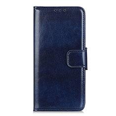Custodia Portafoglio In Pelle Cover con Supporto L02 per Motorola Moto One Fusion Plus Blu