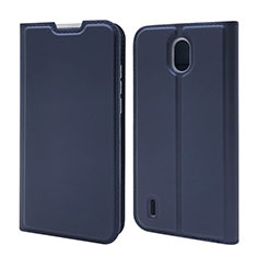 Custodia Portafoglio In Pelle Cover con Supporto L02 per Nokia 1.3 Blu
