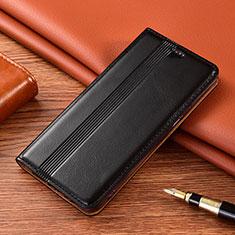 Custodia Portafoglio In Pelle Cover con Supporto L02 per Nokia 2.4 Nero
