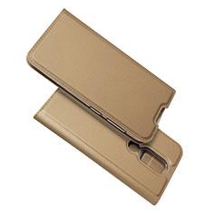 Custodia Portafoglio In Pelle Cover con Supporto L02 per Nokia 4.2 Oro